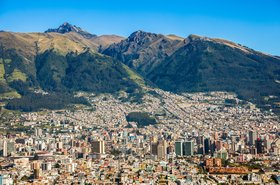 Panorama of Quito, Ecuador