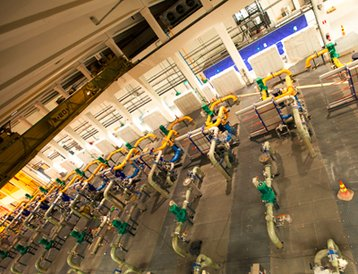 Cooling plant at Google's data center in Hamina, Finland. Courtesy of Google.