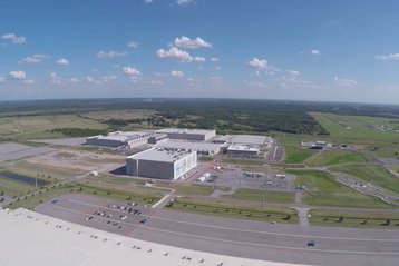 Aerial view of  Google's Pryor data center, Oklahoma