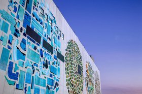 Google data center mural project