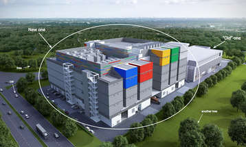Artist's impression of Google's data centre