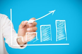 Graph business figures chart growth market research