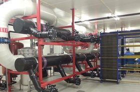 The cooling station at Green Mountain's data center in Norway