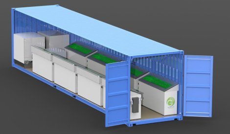 Green Revolution Cooling data center container