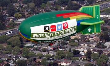 Greenpeace Blimp over 101