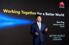 Guo Ping hablando sobre el éxito comercial del 5G durante el Better World Summit 2020..jpg