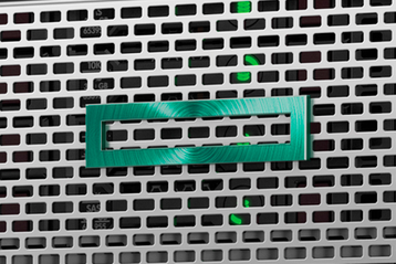 HPE logo on a ProLiant server