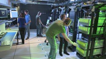 hewlett packard labs engineers working on prototype