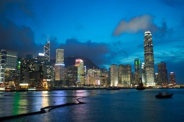 hong kong skyline lights thinkstock photos lovestock