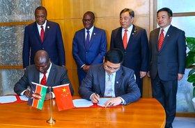 President Uhuru Kenyatta signs the concessional loan