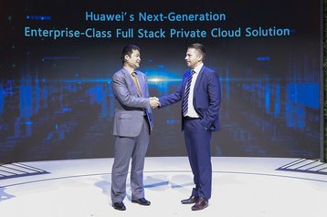 William Dong ,Vice President of Marketing Solution Sales, Huawei, on the left