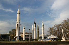 Rocket Park at the US Space and Rocket Center, Huntsville, Alabama