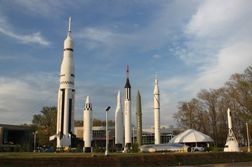 Rocket Park at the US Space and Rocket Center, Huntsville, Alabama
