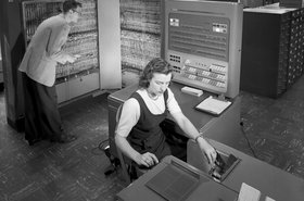 IBM 704 mainframe at NACA in 1957