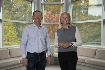 Jim Whitehurst, Red Hat CEO, and Ginni Rometty, IBM CEO