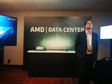 Dan Bounds, senior director of data center solutions at AMD, at a press event in February