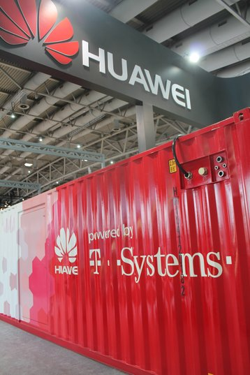 Huawei outdoor modular container sold by T Systems