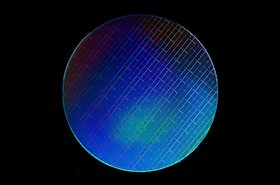 Silicon wafer used to make quantum chips