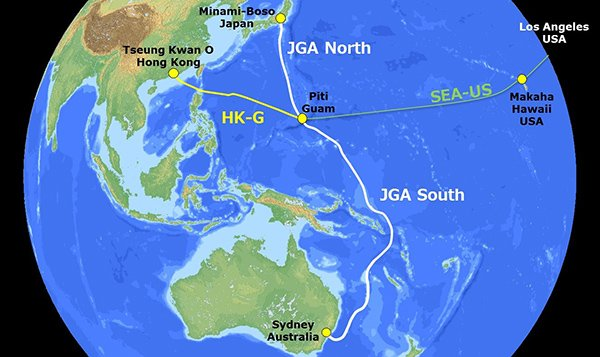 Map Of Australia Japan.Construction Of Japan Guam Australia Submarine Cable Begins Dcd