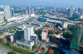 A view of Johor Bahru, Malaysia