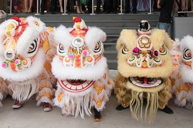 kingsland data centre opening lion dance
