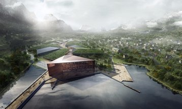 A digital rendering of the planned Kolos facility, Ballangen, Norway