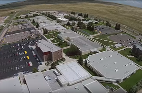 Aerial view of The Laramie County Community College