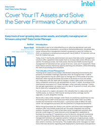 Learn how to keep track of ever-growing data center assets, and simplify managing server firmware with this white paper from Intel WP Cover.png