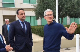Leo Varadkar and Tim Cook