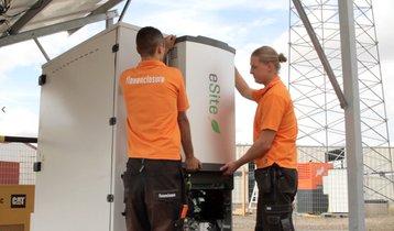 eSite x10 unit being installed