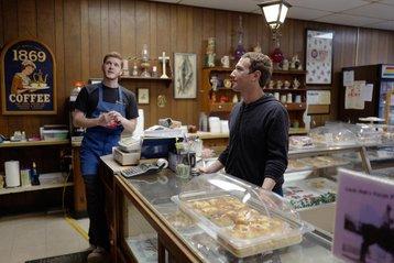 Mark Zuckerberg looks for treats