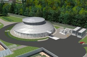 The Data Dome at OHSU - 3D render