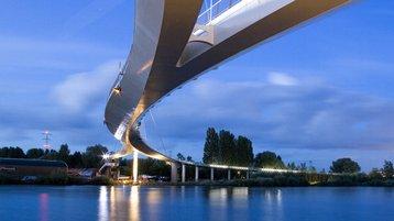 The Nesico Pedestrian Bridge, designed by Arup