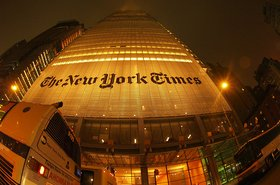 The New York Times outside