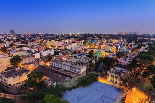 Bangalore City skyline, India