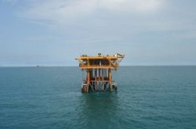 An oil rig. One of the verticals Cipherex is targeting its storage systems at is the oil-and-gas industry.