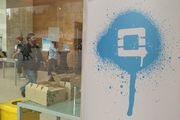 OpenStack logo in Barcelona, 2016