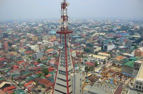PLDT Tower in Manila, the Philippines