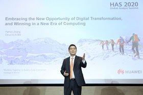 Patrick Zhang, Vicepresidente Senior de Huawei y Director del Departamento de Estrategia y Desarrollo de la Industria, Cloud & AI, en su discurso durante el HAS 2020..jpg