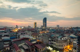 Sunset in Phnom Penh