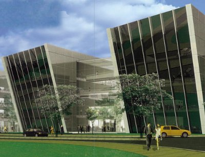 Rendering of a building in Profile Park, Dublin