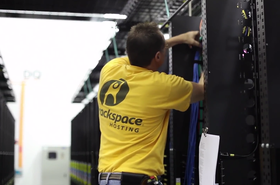 Rackspace engineer at work