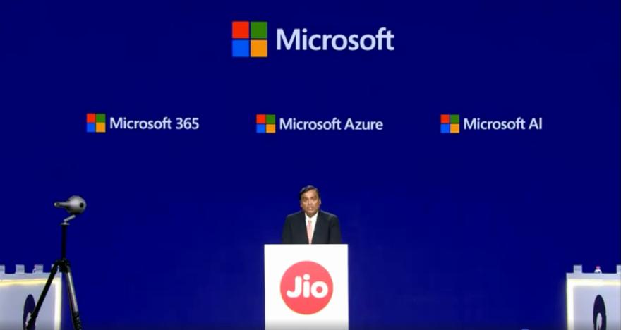 Reliance Jio and Microsoft