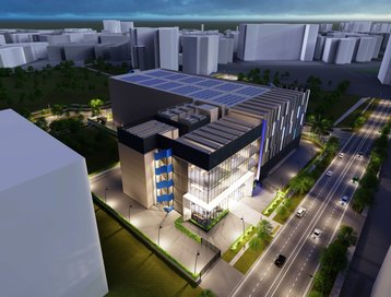 Digital Render of Digital Realty's new SIN12 data center in Singapore