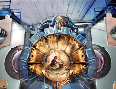 BaBar, a detector built at SLAC to study elementary particles. Courtesy of SLAC National Accelerator Laboratory.