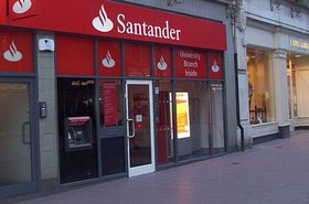 Santander branch in Cardiff, UK