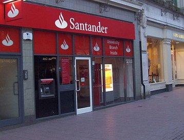 Santander branch in Cardiff, UK