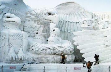 Sapporo ice sculpture