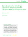 SE UPS considerations