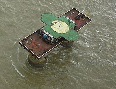 The military fort Sealand, a sovereign state in the North Sea rumoured to be considered for WikiLeaks' servers